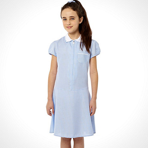 Debenhams - Girl+s blue summer school uniform dress