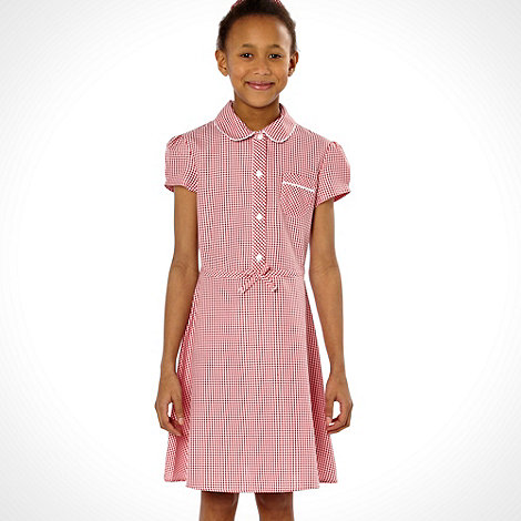 Debenhams - Red girls 2pk summer school uniform dress