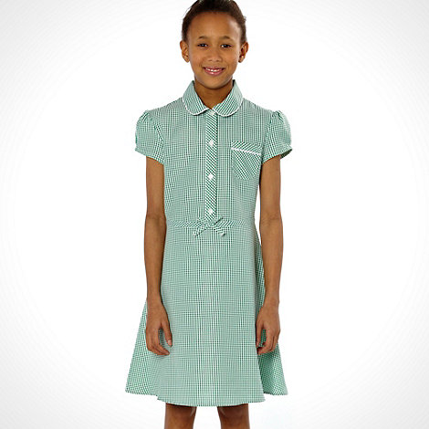 Debenhams - Girl+s pack of two green summer school uniform dresses