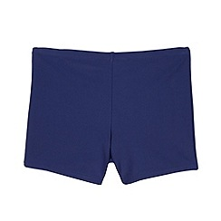 Debenhams - Boy's navy school swim trunks
