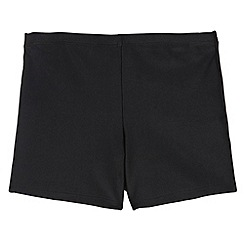 Debenhams - Boy's black school swim trunks