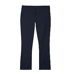 Debenhams - Pack of two girls' navy bootcut school trousers