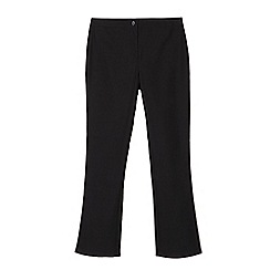Debenhams - Pack of two girls' black bootcut school trousers