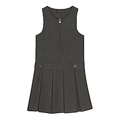 Debenhams - Girls' grey 'Teflon' school pinafore