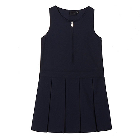Debenhams - Girl+s navy school pinafore