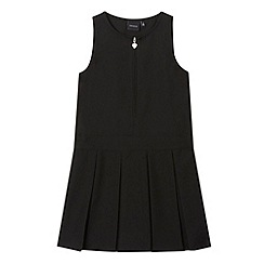 Debenhams - Girl's black school pinafore