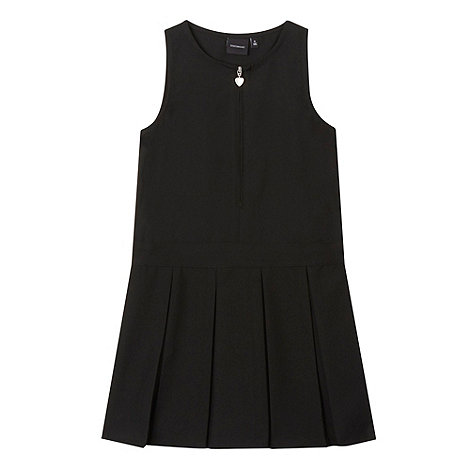 Debenhams - Girls+ black school pinafore