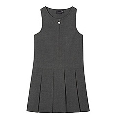 Debenhams - Girls' grey school pinafore