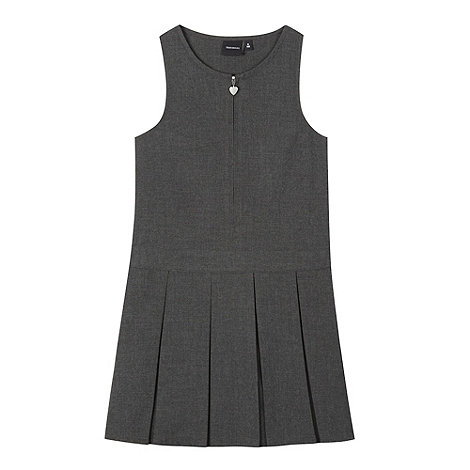 Debenhams - Girls+ grey school pinafore