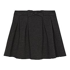 Debenhams - Girls' grey bow skirt