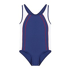 Debenhams - Girl's navy school swimsuit