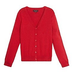 Debenhams - Girl's red V neck school cardigan