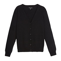 Debenhams - Girl's black V neck school cardigan