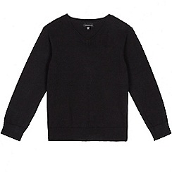 Debenhams - Black school V-neck jumper