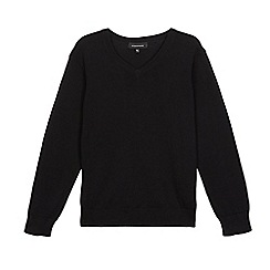 Debenhams - Children's black V neck school jumper