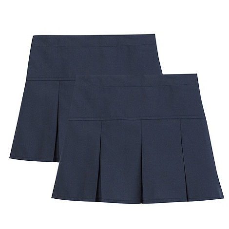 Debenhams - Pack of two girls+ navy school skirts