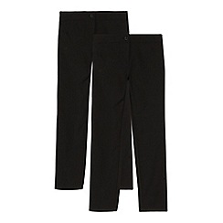 Debenhams - Girls' pack of two black slim fit trousers