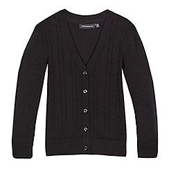 Debenhams - Girls' black cable knit cardigan