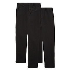 Debenhams - Pack of two boys' slim fit school trousers