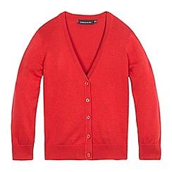 Debenhams - Red V neck cardigan