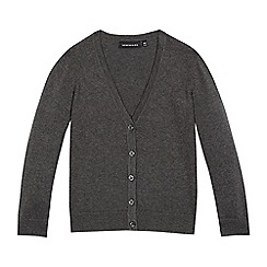 Debenhams - Grey V neck cardigan