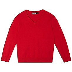 Debenhams - Children's red V neck jumper