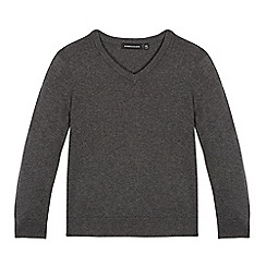 Debenhams - Children's grey V neck jumper
