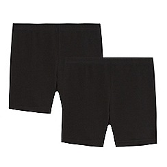 Debenhams - Pack of two children's black school cycling shorts