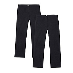Debenhams - Girl's pack of two navy school uniform trousers