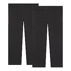 Debenhams - Girl's pack of two black school uniform trousers