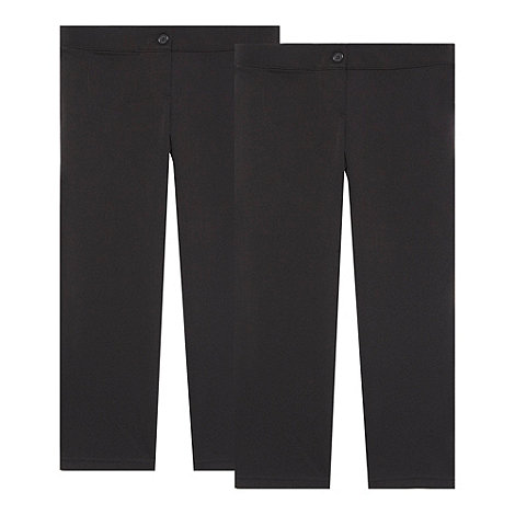 Debenhams - Girl+s pack of two black school uniform trousers