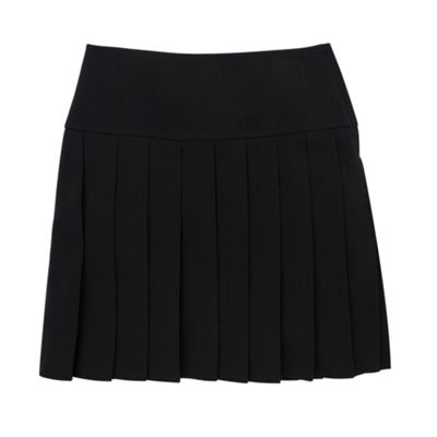 Girls Black Fashion Kilt School Skirt