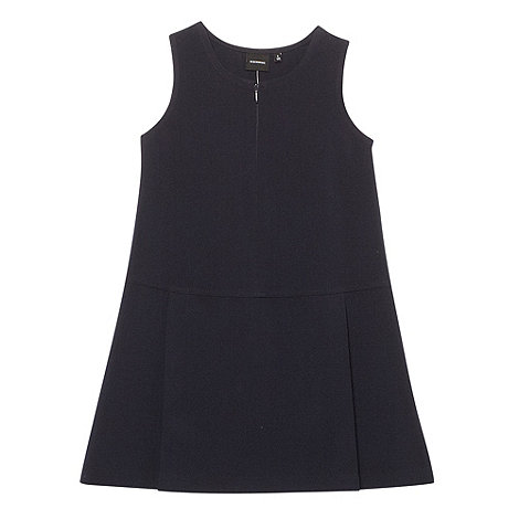 Debenhams - Girl+s navy school uniform pinafore