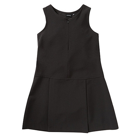 Debenhams - Girl+s black pleat skirt school uniform school uniform pinafore
