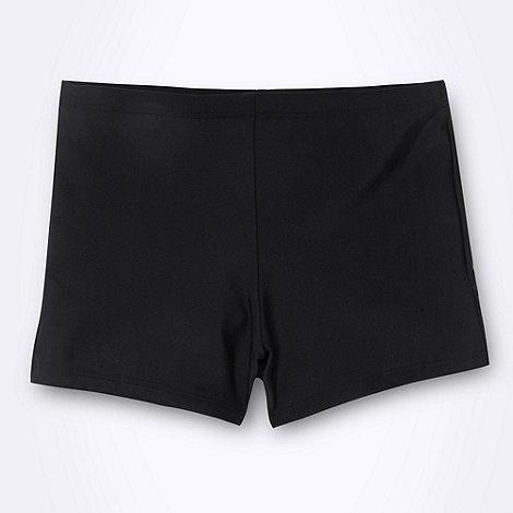 Debenhams - Boy+s black essential swimming trunks