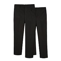 Debenhams - Boy's pack of two black pleated school uniform trousers