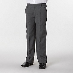 Debenhams - Boy's pack of two grey flat front school uniform trousers