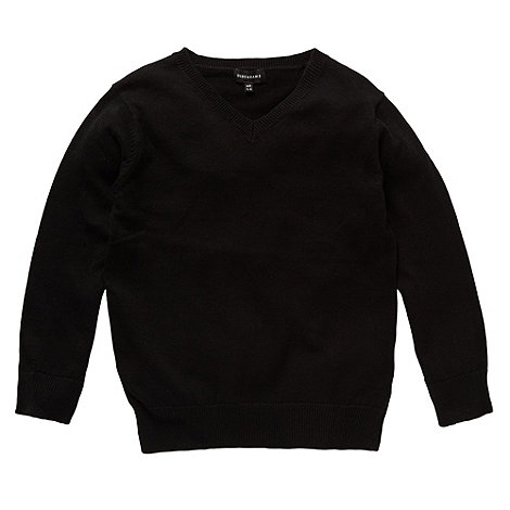 Debenhams - Black unisex knitted school uniform jumper