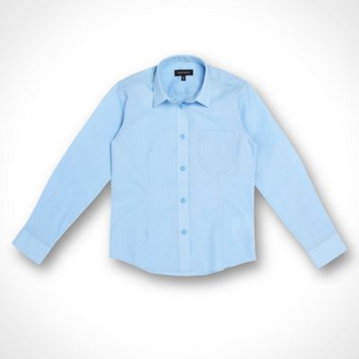 Girls Pack Of Two Blue School Blouses