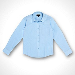 Debenhams - Girl's pack of two blue school uniform blouses