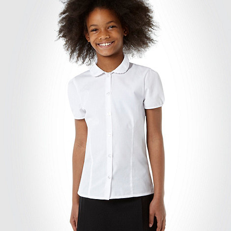 Debenhams - Girl's pack of two white school uniform blouses