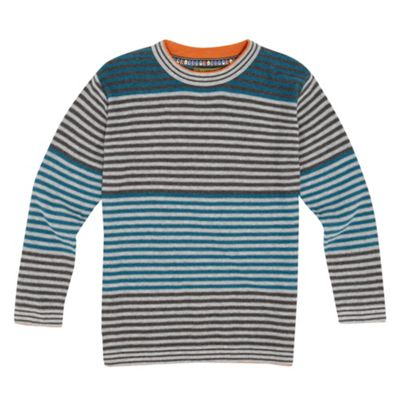 Boys Grey Stripe Jumper