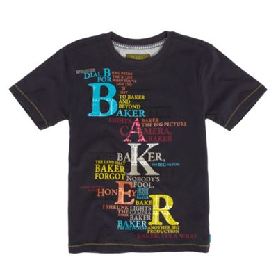 Boys Navy Filmstrip Logo T-shirt