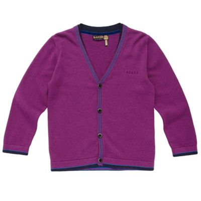 Boys Purple Cardigan