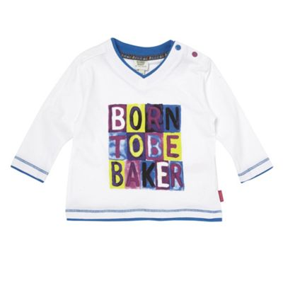 Boys White Born To Be Baker T-shirt