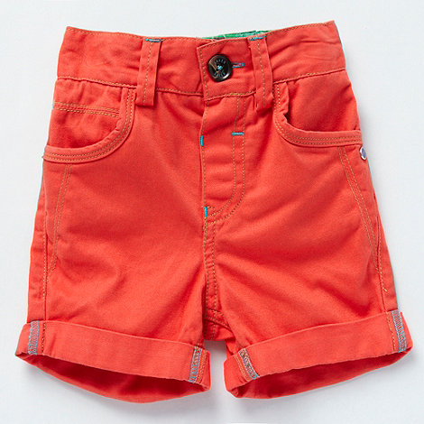 Baker by Ted Baker - Babies red roll cuff shorts