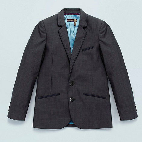 Baker by Ted Baker - Boys dark grey piped trim jacket
