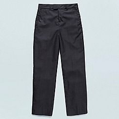 Baker by Ted Baker - Boy's dark grey flat front trousers