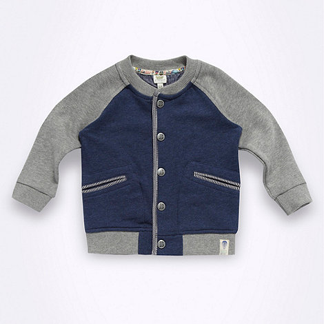 Baker by Ted Baker - Babies navy baseball sweat jacket