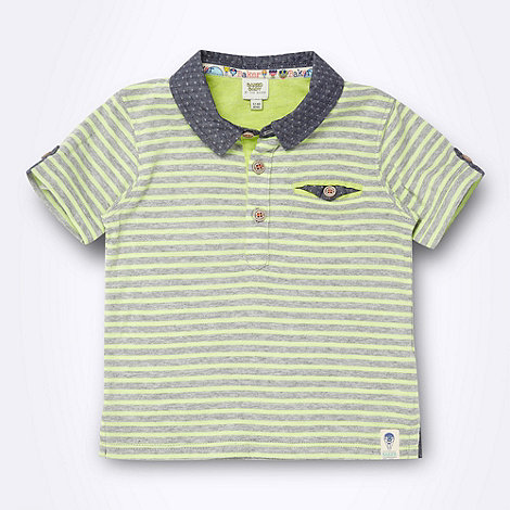 Baker by Ted Baker - Babies green striped polo shirt